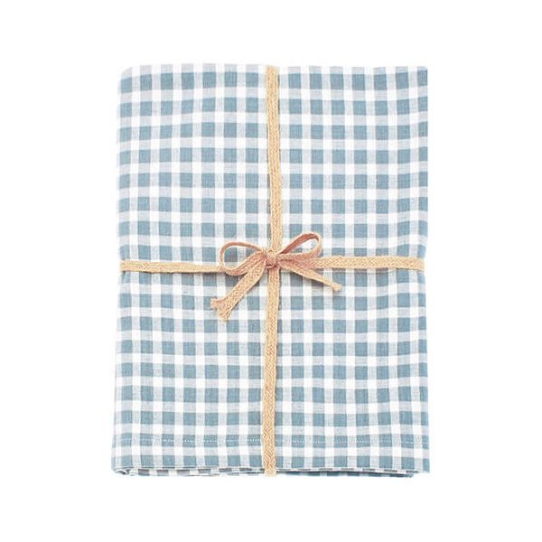Walton & Co Portland Check Tablecloth Blue Cedar 130x230cm