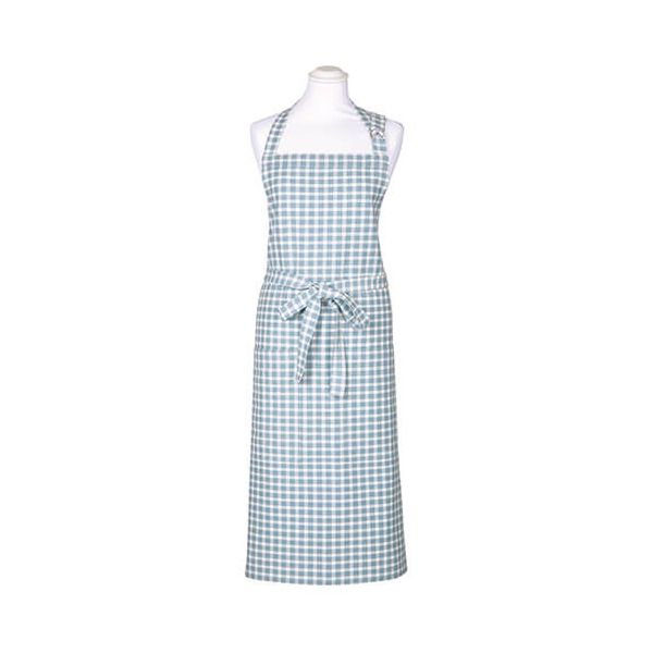 Walton & Co Portland Check Apron Blue Cedar