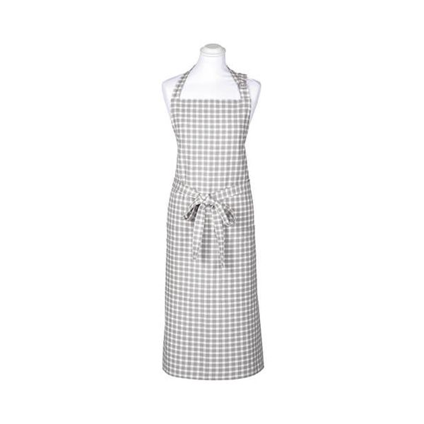 Walton & Co Portland Check Apron Dove Grey