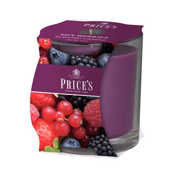 Prices Fragrance Collection Mixed Berries Cluster Jar Candle