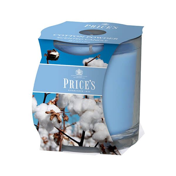 Prices Fragrance Collection Cotton Powder Cluster Jar Candle