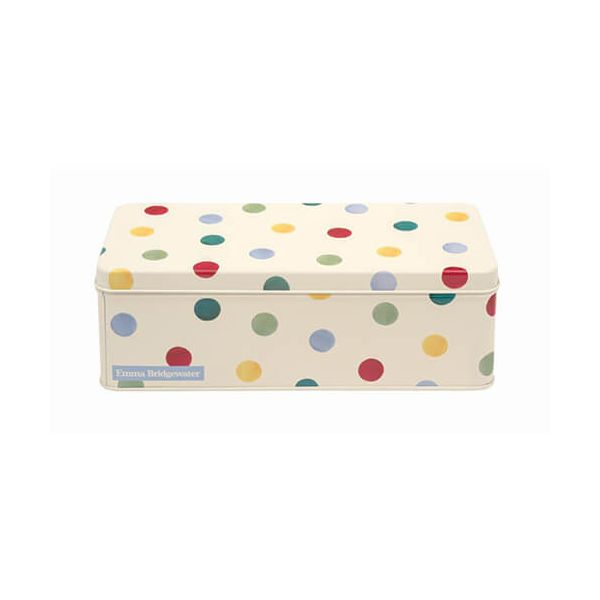Emma Bridgewater Polka Dot Original Long Deep Rectangular Tin
