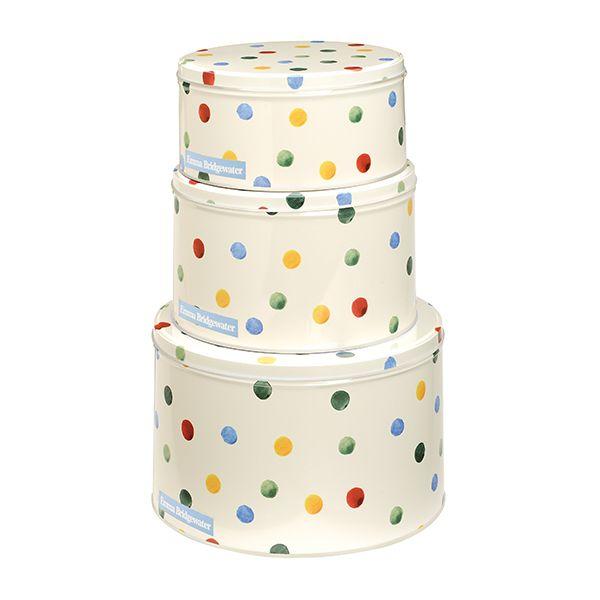 Emma Bridgewater Polka Dot Set of 3 Round Cake Tins