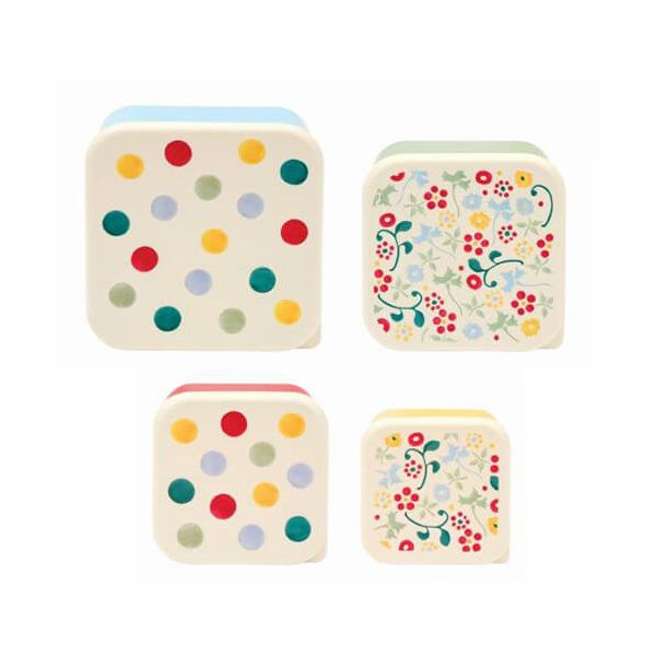 Emma Bridgewater Polka Dot Set Of 4 Snack Tubs