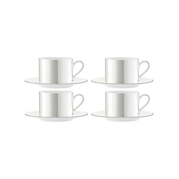 LSA Pearl Tea / Coffee Cup & Saucer 250ml Set Of 4