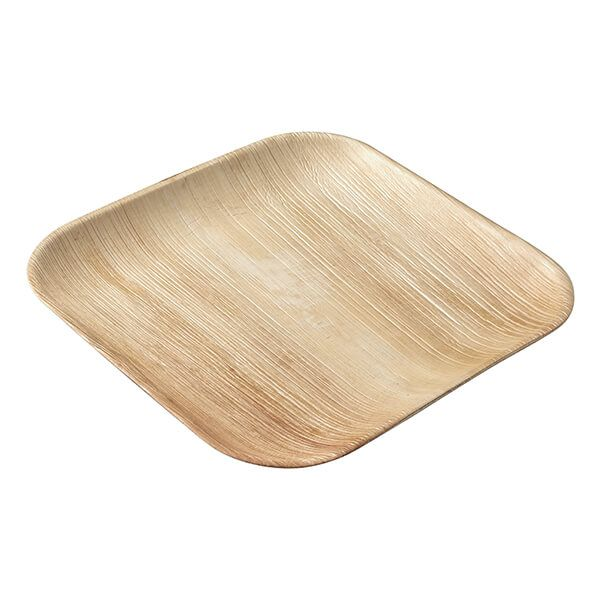 EcoSouLife Areca Nut Leaf 25 x 25cm Square Plate, 5 Pieces