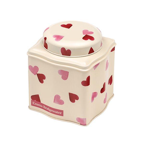 Emma Bridgewater Pink Hearts Dome Lid Wavy Caddy