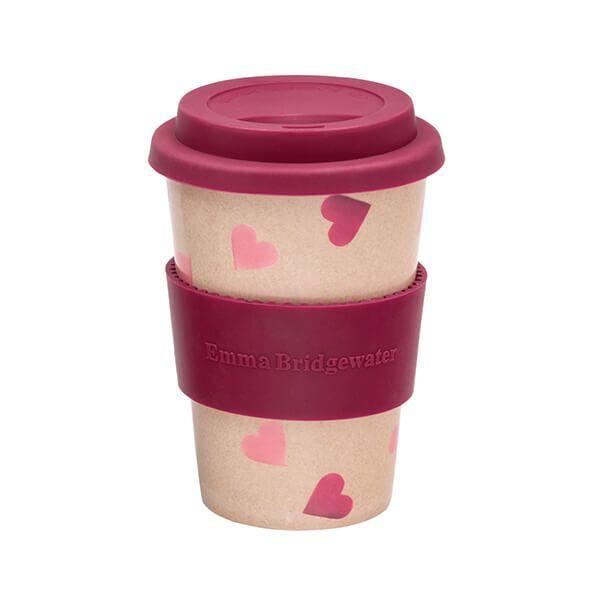 Emma Bridgewater Pink Hearts Rice Husk Cup