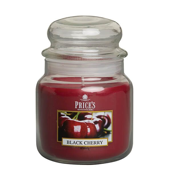 Prices Fragrance Collection Black Cherry Medium Jar Candle