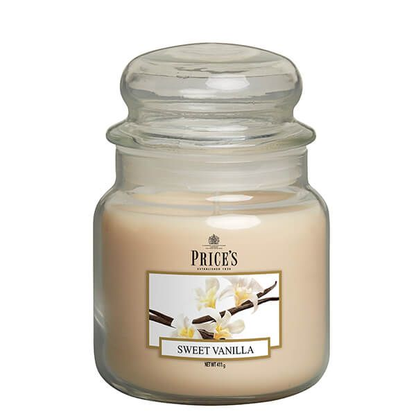 Prices Fragrance Collection Sweet Vanilla Medium Jar Candle