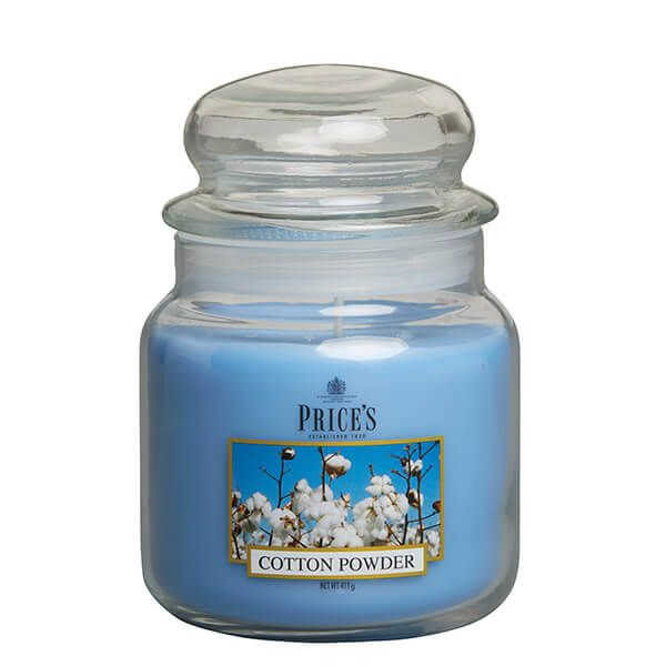Prices Fragrance Collection Cotton Powder Medium Jar Candle