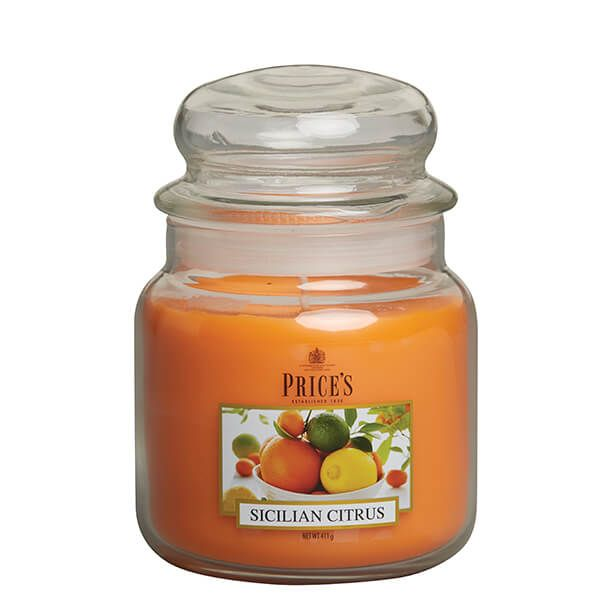 Prices Fragrance Collection Sicilian Citrus Medium Jar Candle