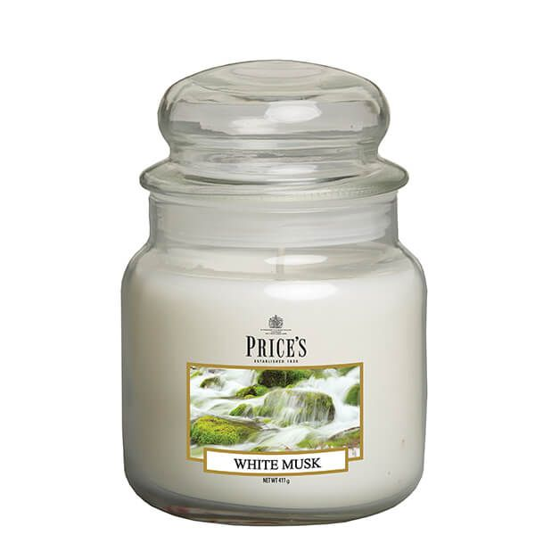 Prices Fragrance Collection White Musk Medium Jar Candle