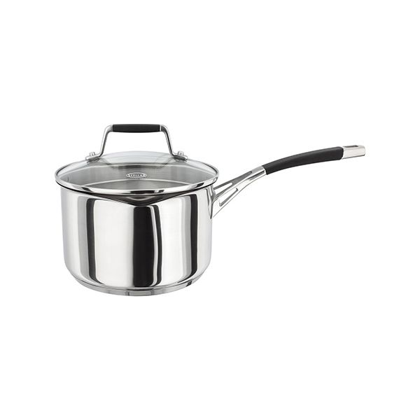 Stellar 5000 Induction 18cm Draining Lid Saucepan