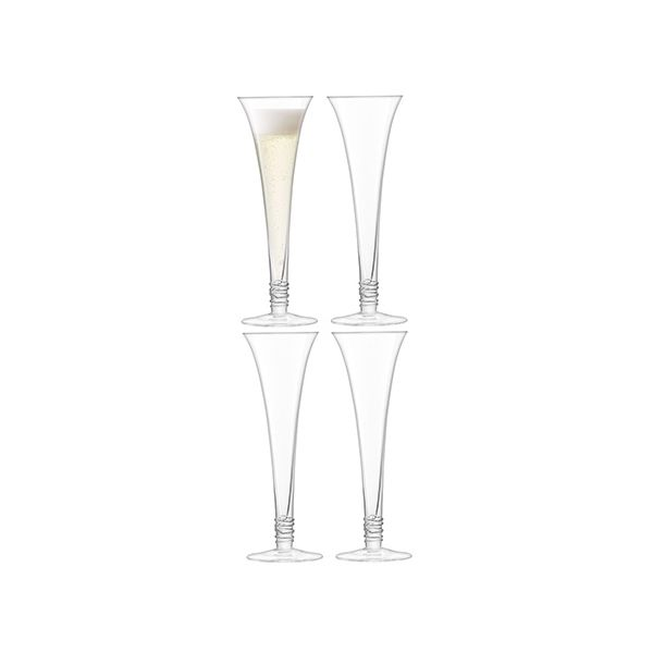 LSA Prosecco Flute 140ml Clear Set Of 4