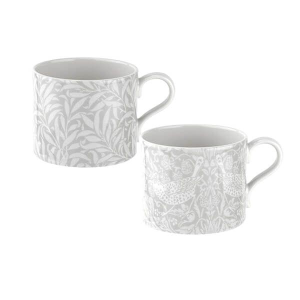 Morris & Co Strawberry Thief & Willow Bough Mugs Set of 2