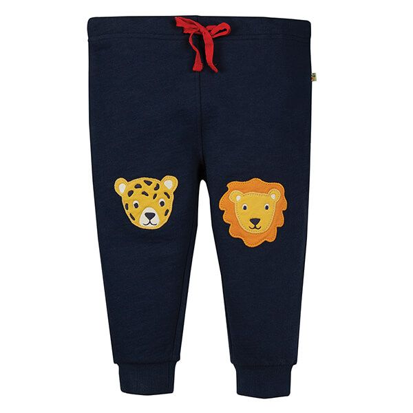 Frugi Organic Indigo/Big Cats Kneepatch Crawlers