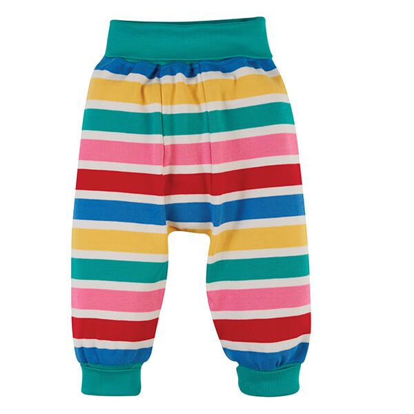 Frugi Organic Rainbow Multi Stripe Parsnip Pants