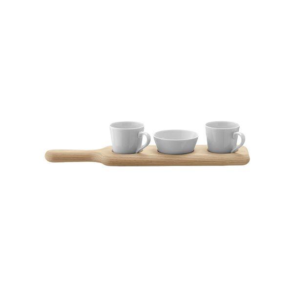 LSA Paddle Duo Espresso Set & Oak Paddle 36cm