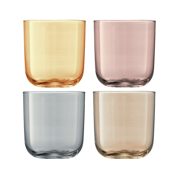 LSA Polka Metallics Tumbler 420ml Set Of Four