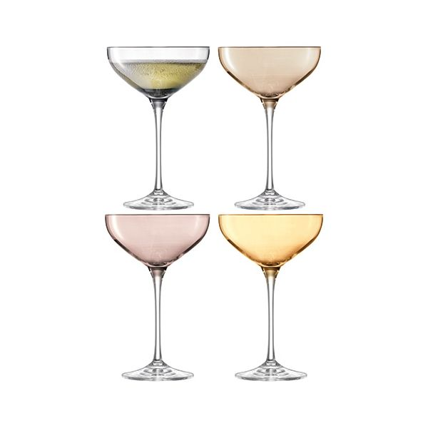 LSA Polka Metallics Champagne Saucer 390ml Set Of Four