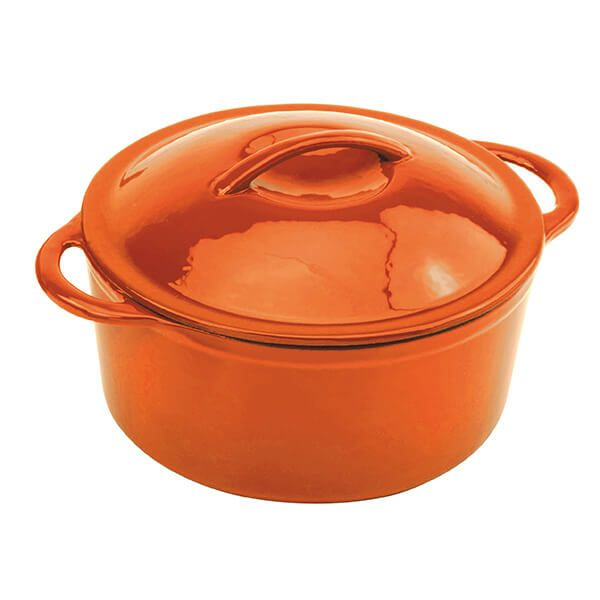 Commichef Provencale Deep Orange 28cm Round Casserole