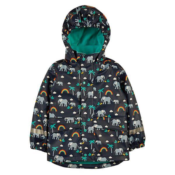 Frugi Organic Indigo Rainbow Walks Puddle Buster Coat