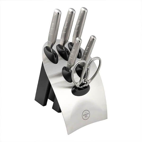 Rockingham Forge Quadra 7 Piece Knife Block Set