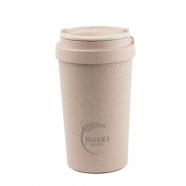 Huski Home Rice Husk Travel Cup Pastel Pink 400ml