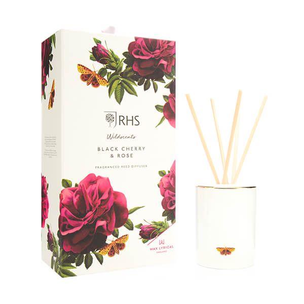 Wax Lyrical RHS Wildscents Black Cherry & Rose Reed Diffuser 250ml