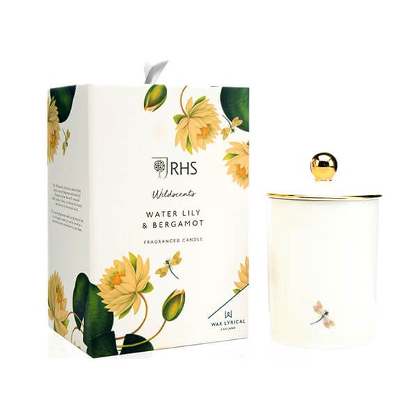 Wax Lyrical RHS Wildscents Water Lily & Bergamot Ceramic Candle