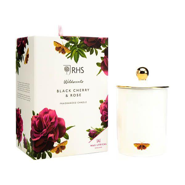 Wax Lyrical RHS Wildscents Black Cherry & Rose Ceramic Candle