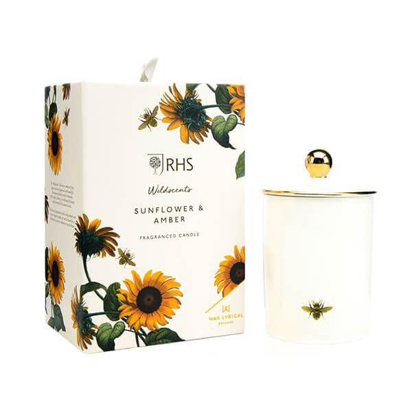 Wax Lyrical RHS Wildscents Sunflower & Amber Ceramic Candle