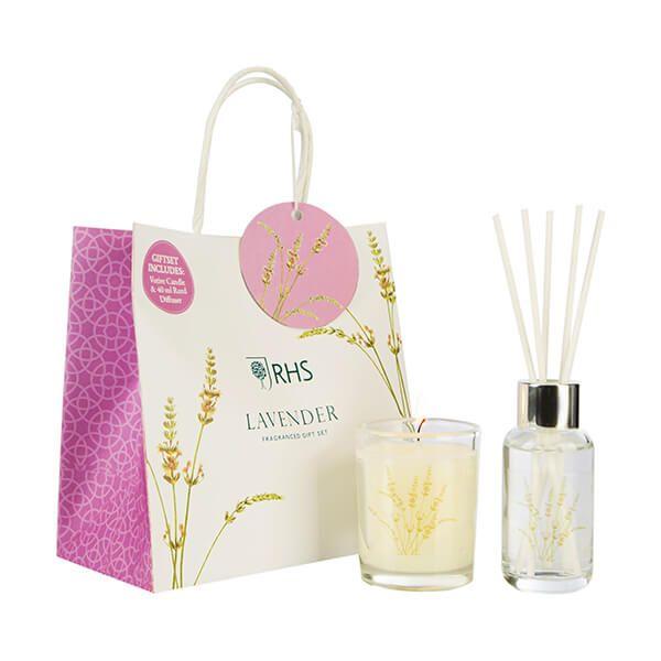 Wax Lyrical RHS Fragrant Garden Lavender Candle & Reed Diffuser Gift Set