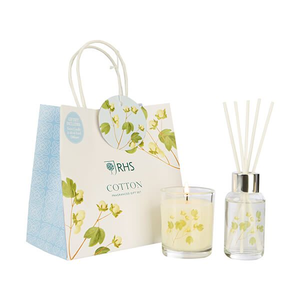 Wax Lyrical RHS Fragrant Garden Cotton Candle & Reed Diffuser Gift Set