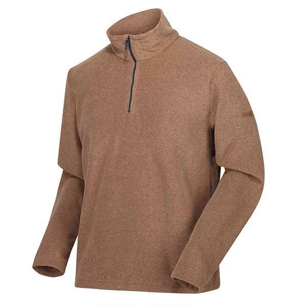 Regatta Dark Camel Edley Half Zip Two Tone Fleece