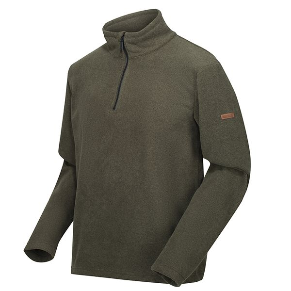 Regatta Dark Khaki Edley Half Zip Two Tone Fleece