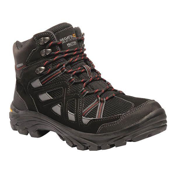 Regatta Men's Burrell II Vibram Walking Boots Black Granite