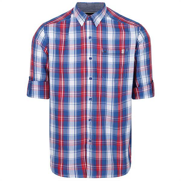 Regatta Men's Banning Coolweave Long Sleeved Shirt Nautical Blue
