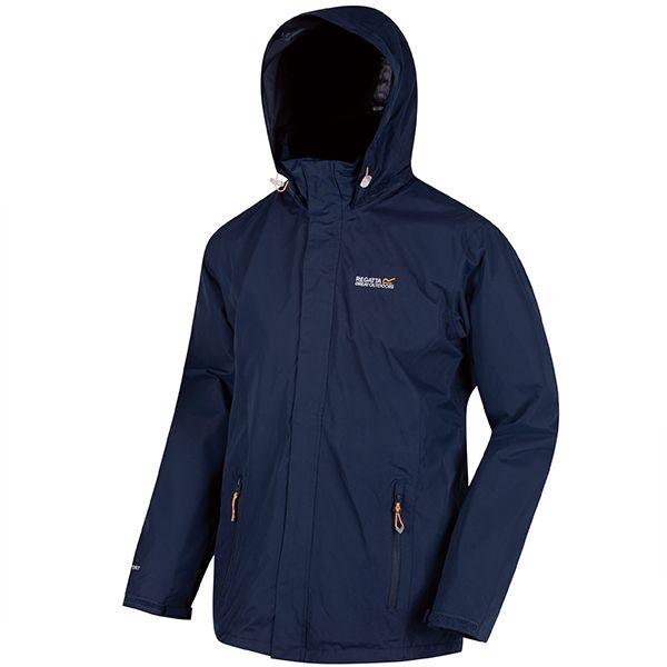 Regatta Navy Matt Lightweight Waterproof Jacket With Concealed Hood