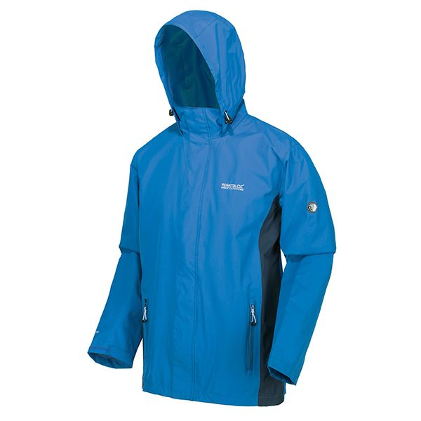 Regatta Imperial Blue Nightfall Navy Matt Lightweight Waterproof Jacket With Concealed Hood