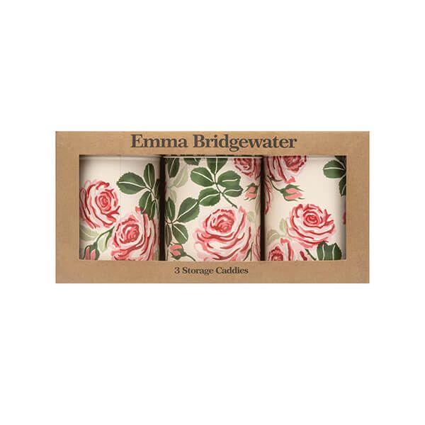 Emma Bridgewater Roses Set of 3 Round Caddies