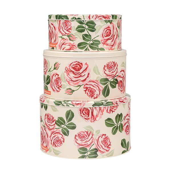 Emma Bridgewater Roses Set 3 Round Cake Tins