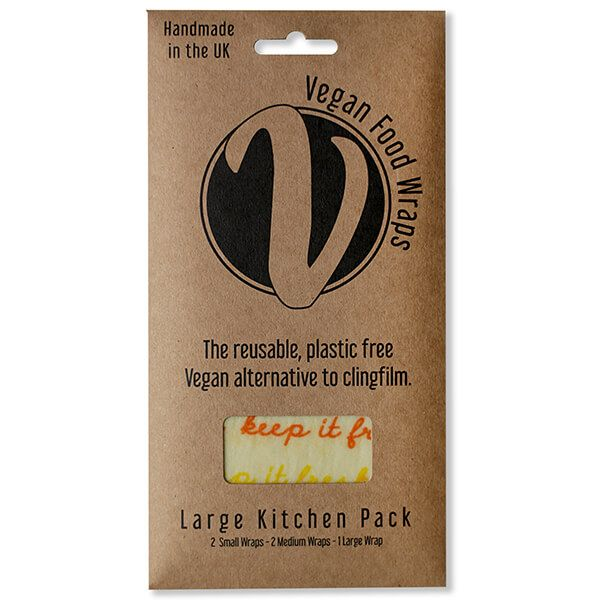 The Vegan Food Wraps Co. Vegan Wax Wrap Large Kitchen Pack