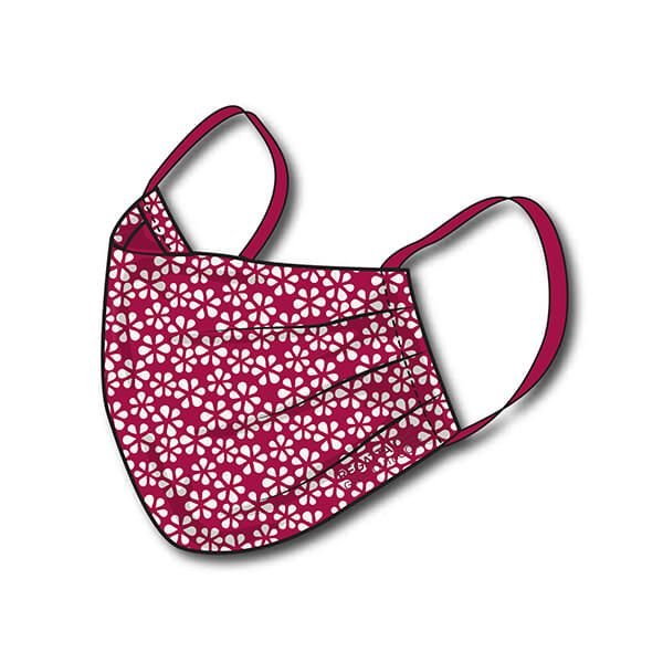 Regatta Pack of Three Adult Triple Layer Face Masks - Dark Cerise Scattered Floral