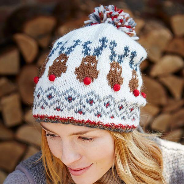 Pachamama Rudolf Christmas Bobble Beanie Hat