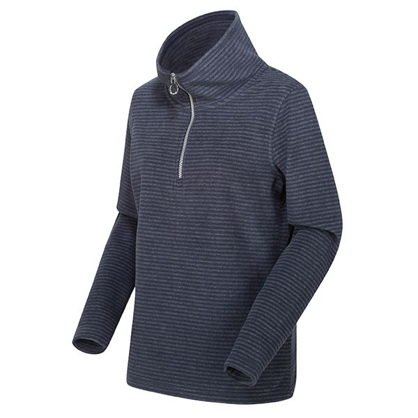Regatta Navy/Silver Solenne Half Zip Stripe Fleece