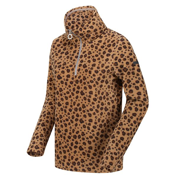 Regatta Leopard Kimberley Walsh Leela Lightweight Half Zip Printed Fleece