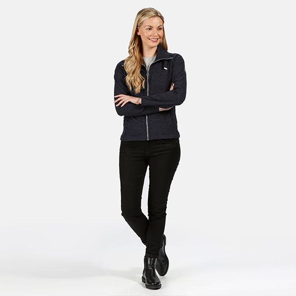 Regatta Navy Zaylee Full Zip Mid Weight Fleece