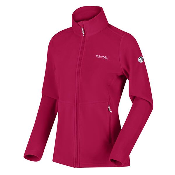 Regatta Dark Cerise Floreo III Full Zip Mid Weight Walking Fleece Size 18